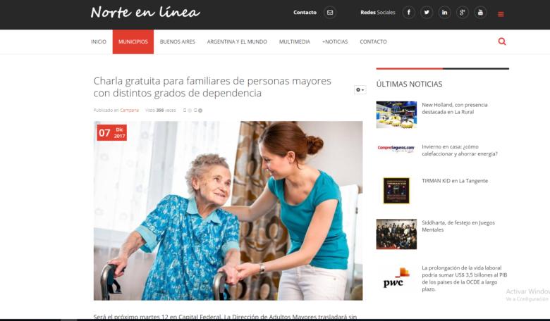 charla para familiares de personas mayores