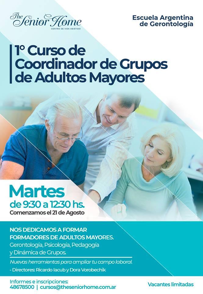 Curso de Coordinador de grupos de adultos mayores.